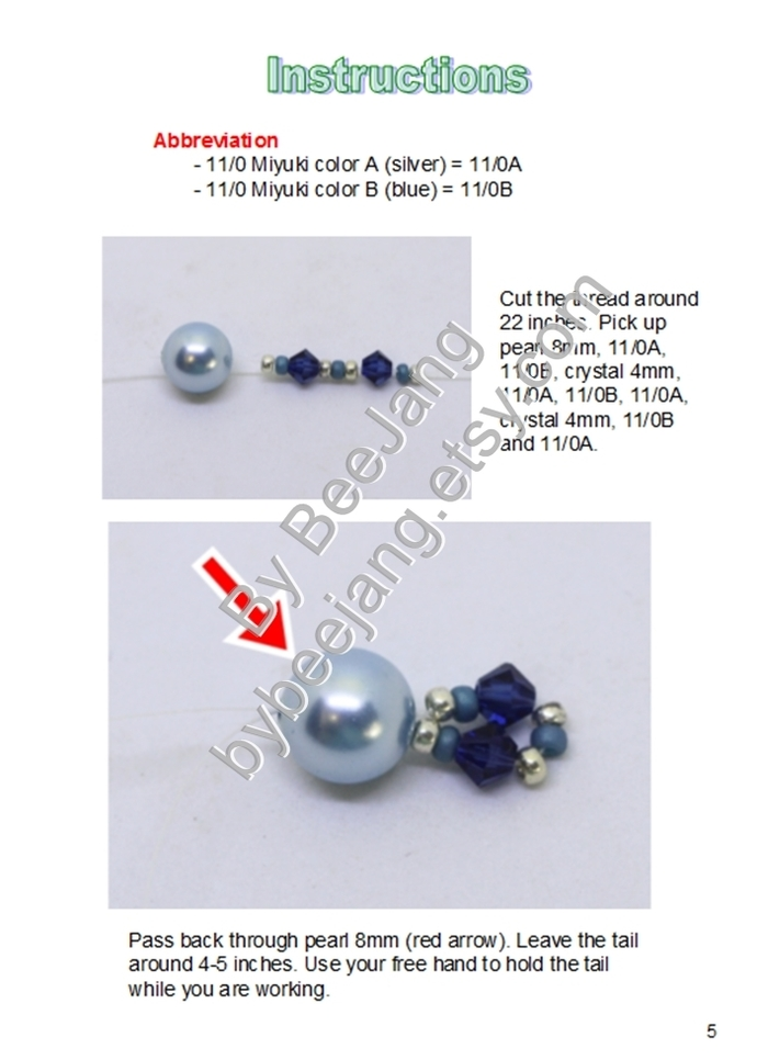 PDF Tutorial - Daena Earrings Instant download Beadweaving Instruction Beading