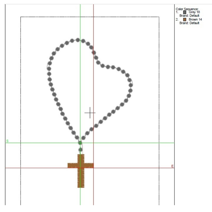 Rosary Prayerv Machine Embroidery Design Christian cross heart designs machine