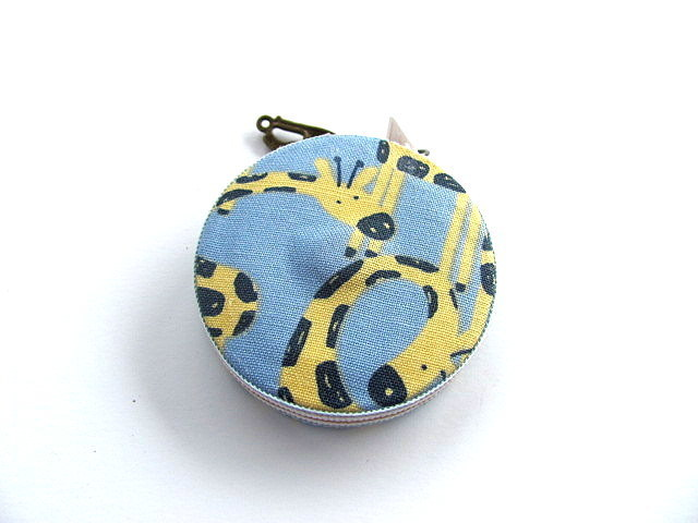 Tape Measure Giraffes on Blue Retractable Tape Measure
