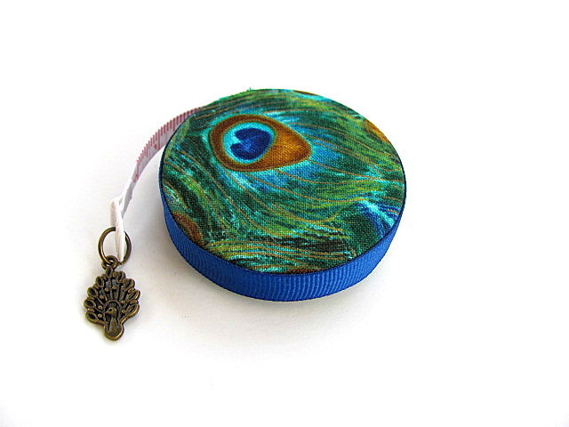 Tape Measure Peacock Feathers Retractable Measuring Tape