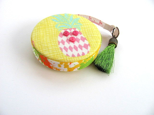 Tape Measure for Pastel Pineapples  Retractable Measuring Tape