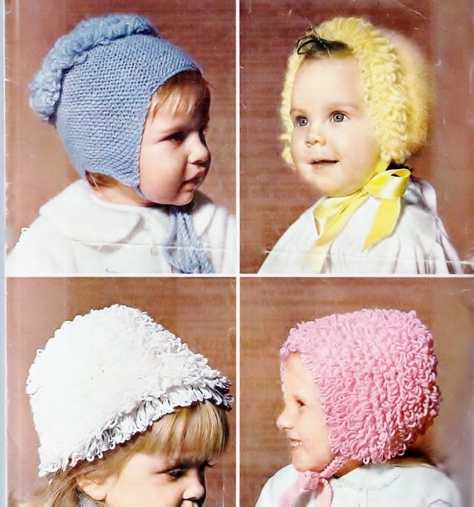 aceb9c0257b Instant PDF Download Row by Row Vintage Knitting Pattern to make Four Baby  Hats
