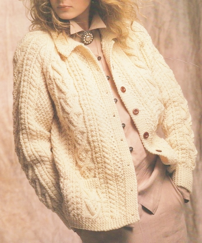 Instant PDF Download Vintage Row by Row Knitting Pattern to make Ladies Girl's