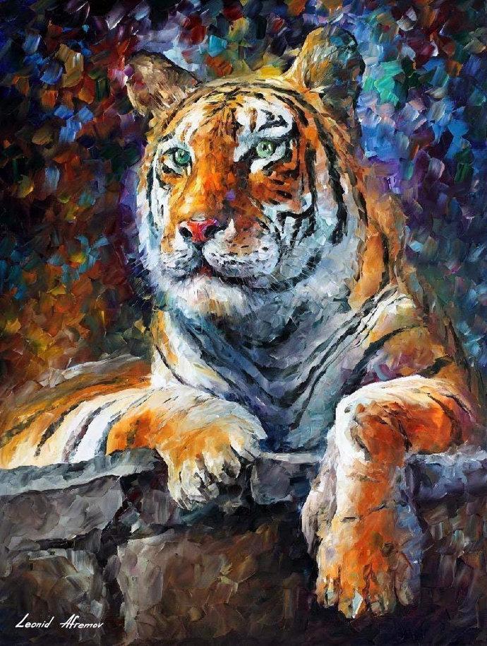 DIY Siberian Tiger Animal Diamond Painting, Square Full Drill Diamond Painting