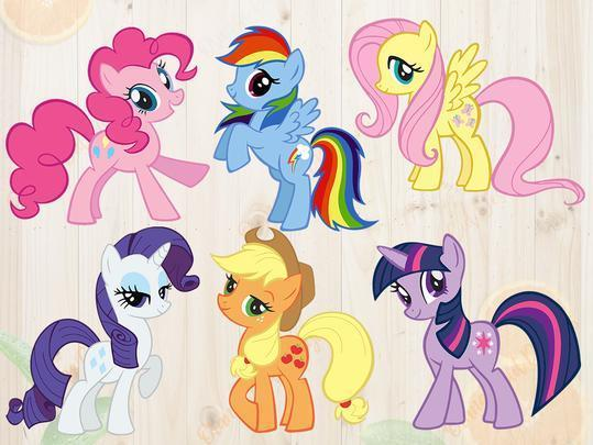 My Little Pony Svg, My little pony Dxf, Eps & Png Cutfiles, Little pony for