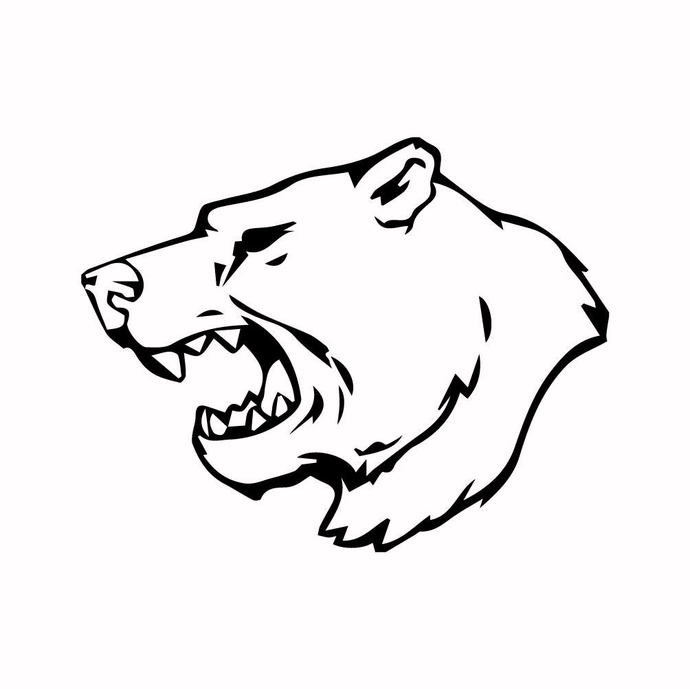 Grizzly Bear 09 graphics design SVG DXF PNG PDF AI EPS Vector Art Clipart