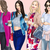 Watercolour fashion illustration clipart - Coffee Girls 4 - Light Skin