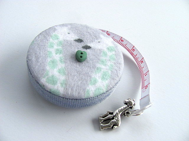 Tape Measure Giraffes on Flannel Retractable Tape Measure