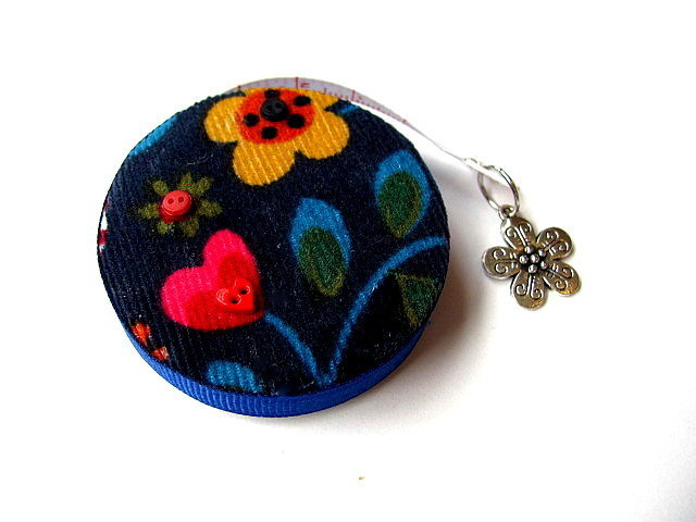 Tape Measure Corduroy  Flowers Retractable Measuring Tape