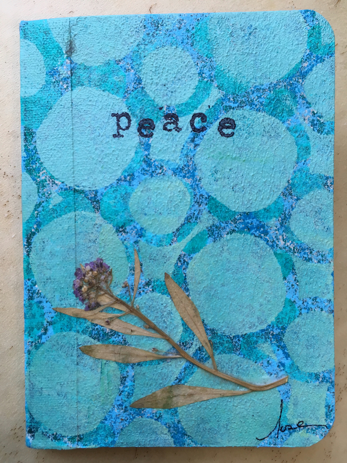 "Mini Writing Journal - ""Peace Bubbles"" - Perfect for Travel"