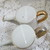 Porcelain watering can salt and pepper shakers / White and gold watering cans