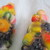 Vintage tall fruit bowl salt and pepper shaker set / Carmen Miranda salt and