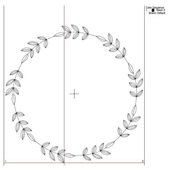Wedding vintage embroidery machine designs circle monogram frame instant digital