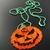 Evil grinning Halloween pumpkin bead loomed pendant on ball chain