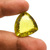 Amazing Large !Lemon Quartz Faceted  Trillion checker board Flawless  Loose