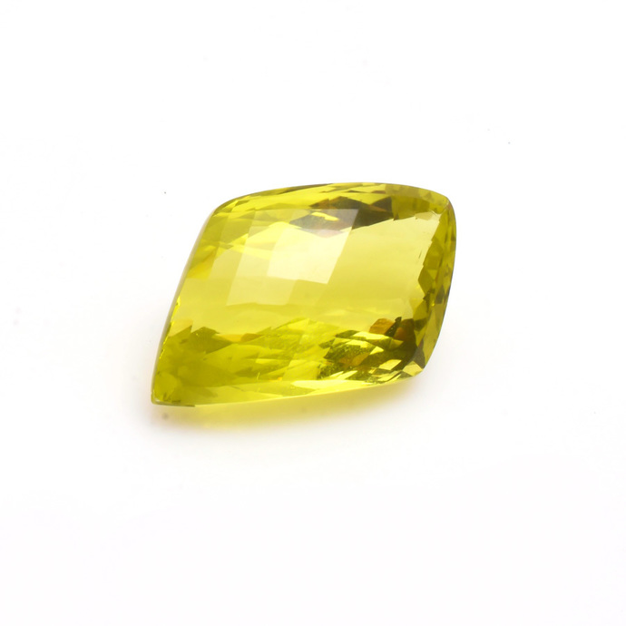 Lemon Quartz Faceted Fancy shape  checker board Flawless  Loose Gemstone