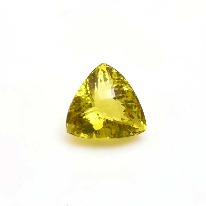 Lemon Quartz Faceted  Trillion checker board Flawless  Loose Gemstone Cts 44.30