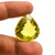 Lemon Quartz Faceted  Pear  checker board Flawless  Loose Gemstone cts 58.15