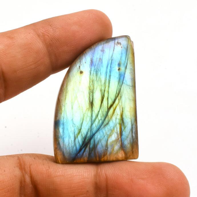 Flashy Labradorite Fancy Smooth Polished Cabochon Black Rainbow Loose Gemstone