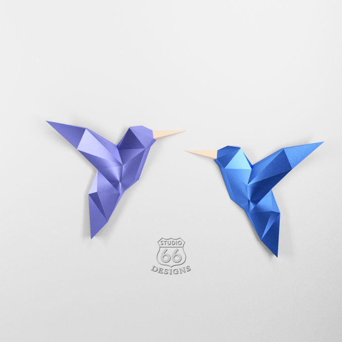 Papercraft Birds 3D Origami Home Decor Nursery