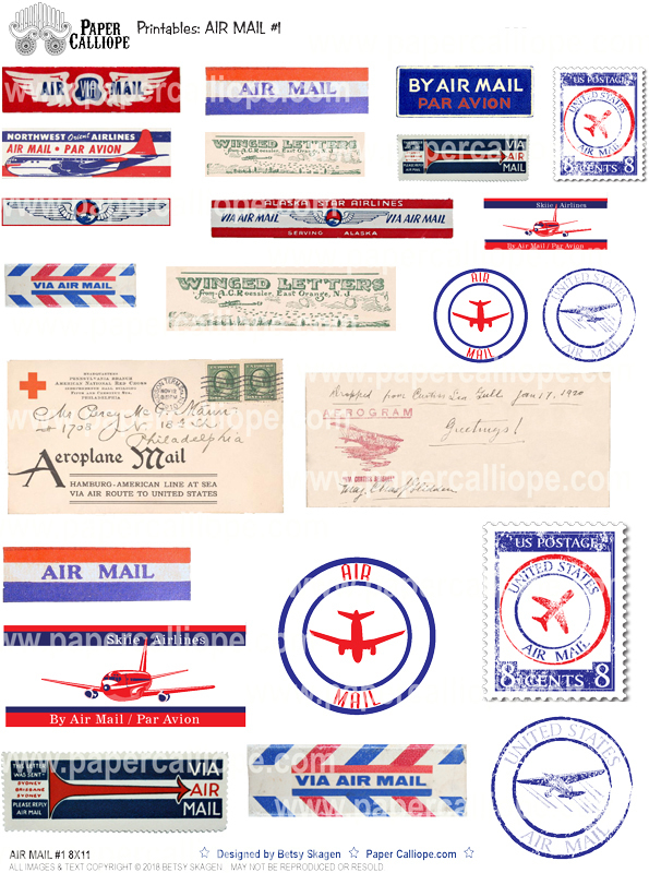 Paper Calliope Air Mail #1