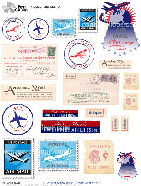 Paper Calliope Air Mail #2