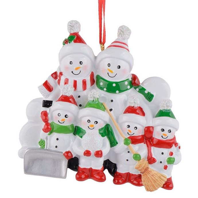 ornament 6 snowman family 2018 christmas tree decorations - Snowman Christmas Tree Decorations