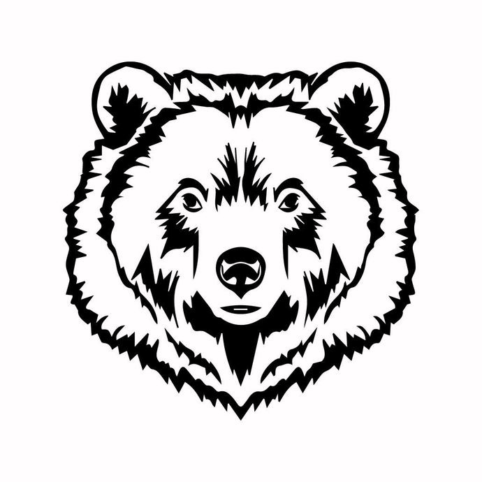 Grizzly Bear 10 graphics design SVG DXF PNG PDF AI EPS Vector Art Clipart