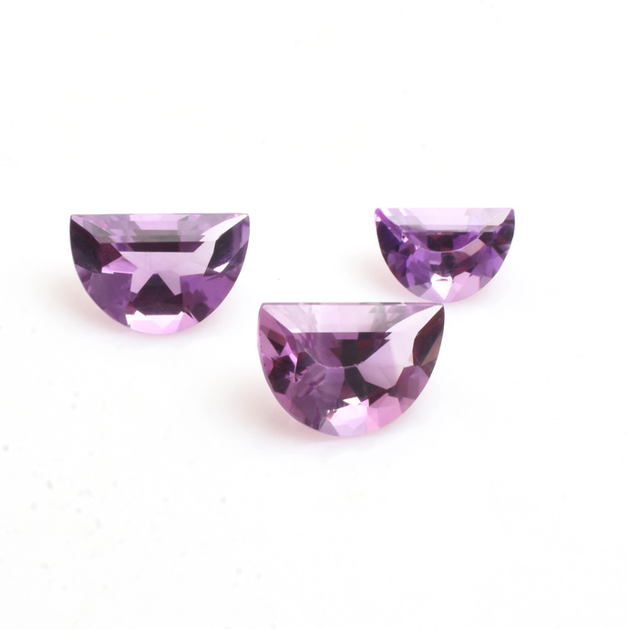 African Amethyst  Flawless  Faceted Fancy D Shape AAA Quality Loose Gemstone