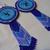 Native American Style Rosette Beaded Orca Earrings in Cobalt Blue