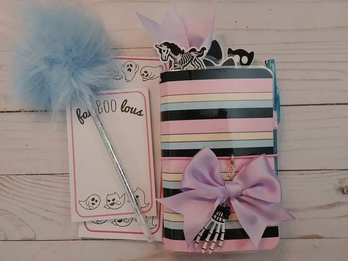"""Pastel Halloween"" Pocket Travelers Notebook w/inserts"