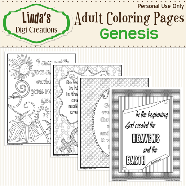 Genesis Printable Adult Coloring Pages