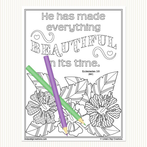 Ecclesiastes Adult Coloring Pages