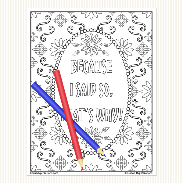 Classic Mom Sayings Set 1 _Printable Adult Coloring Pages