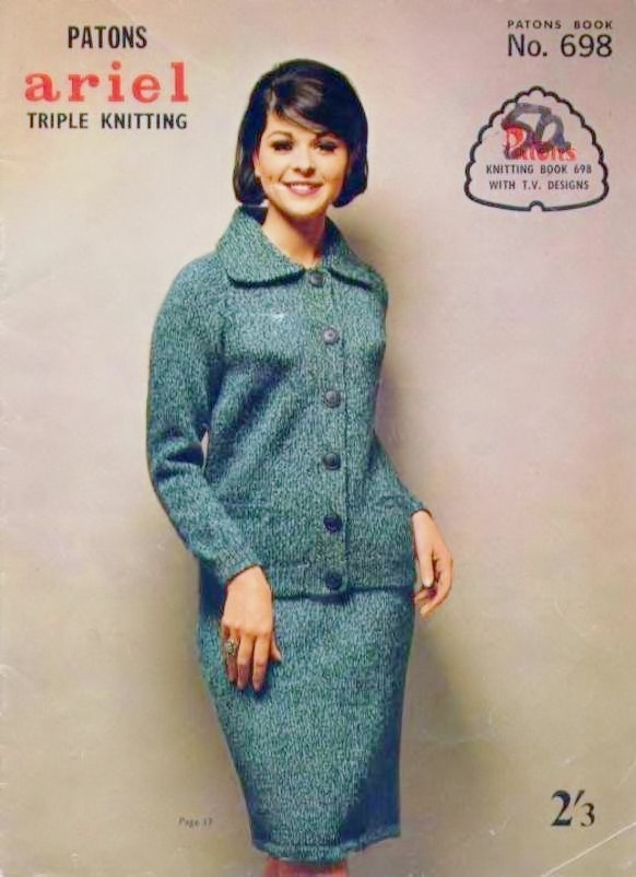 ALMOST FREE Instant PDF Download Vintage Knitting Pattern Booklet 20 Pages of