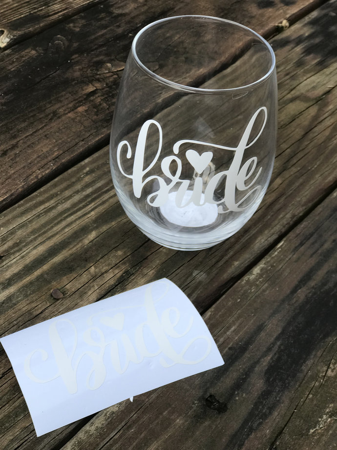 BRIDE Wedding Decal / Many Colors / Many Sizes