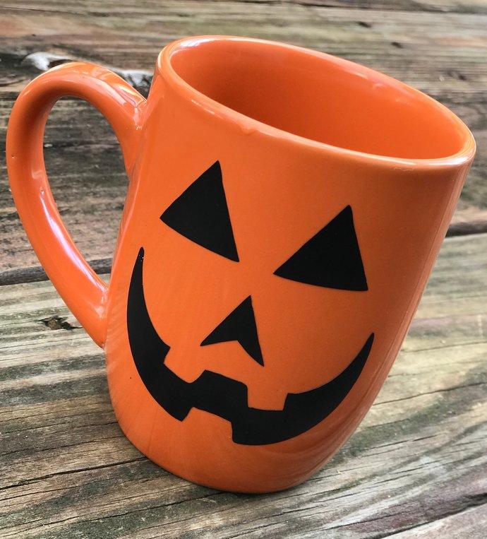 Pumpkin Silhouette Halloween Stickers / D.I.Y  Vinyl Decals