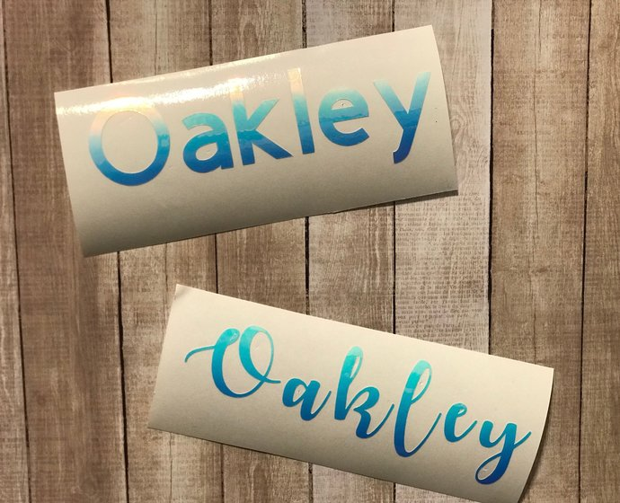 Iridescent Vinyl Name Decal - DIY Name Decal - Name Sticker - Name Decals Only-