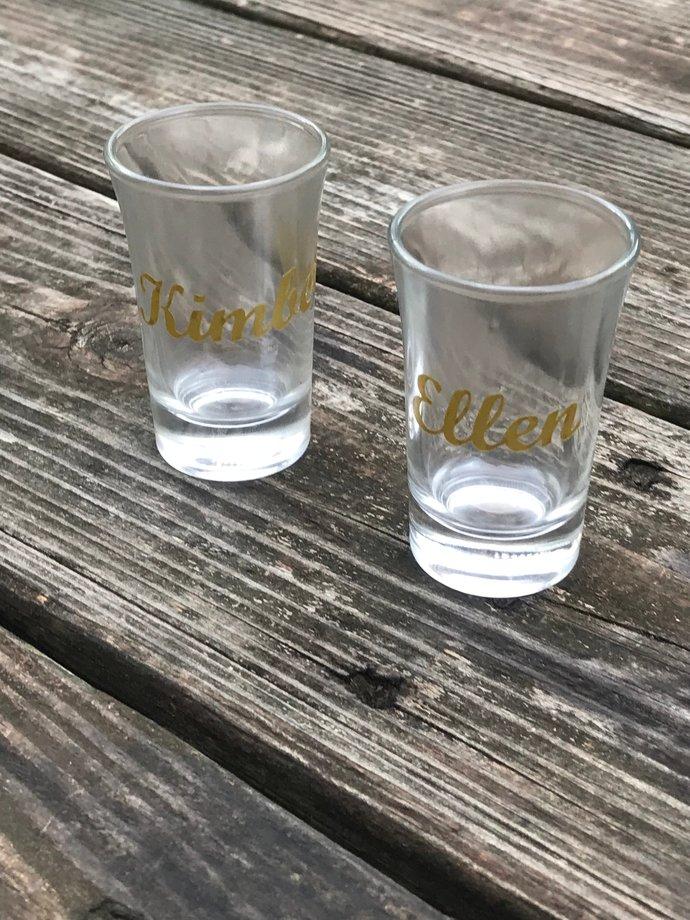 Bachlorette Party  / Shower / Shot Glass / Party Favors