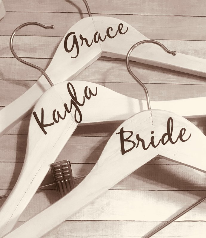 "2.5"" DIY Personalized Wedding Hanger Decal/ DIY Vinyl Decals/Custom Hanger"