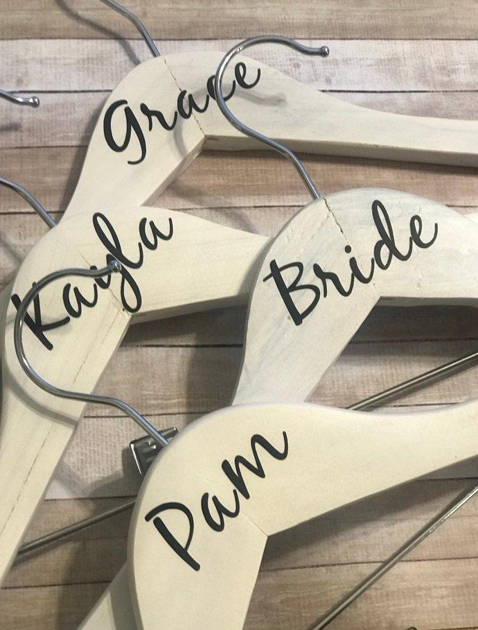 """2.5"""" DIY Personalized Wedding Hanger Decal/ DIY Vinyl Decals/Custom Hanger"""