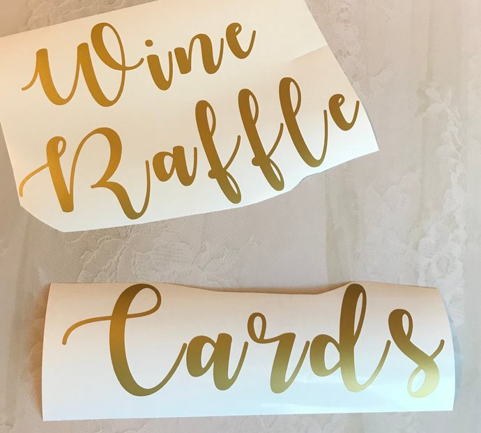 Wedding Decal / Many Style / Wedding Cards / Wine / Mr. Mrs / Raffle / Much More