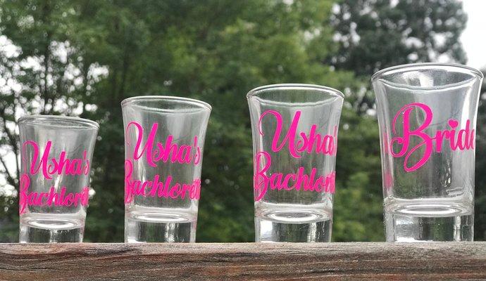Personalized Bridal Party / Bachlorette Party Shot Glass