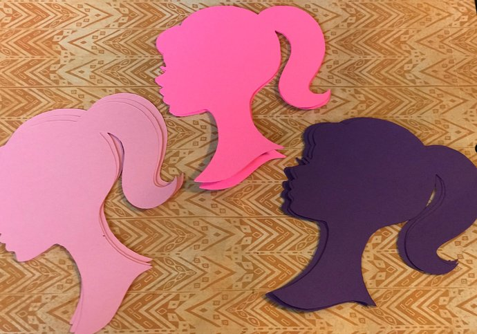 Barbie Silhouette Cut Outs / Die Cut / Many Colors/ Many Sizes