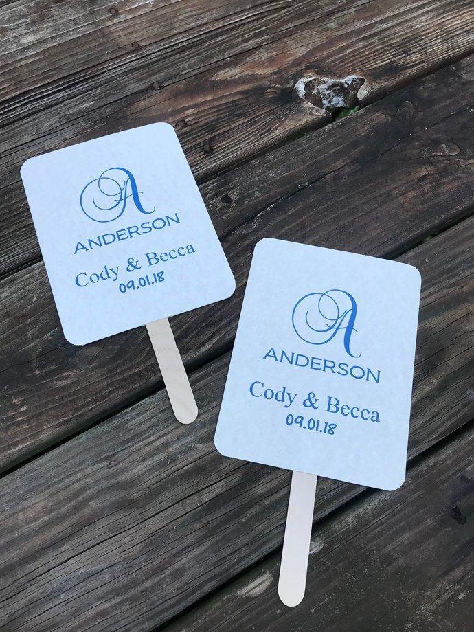 Monogram Paddle Programs - Personalized Wedding program Paddle / Party / Many
