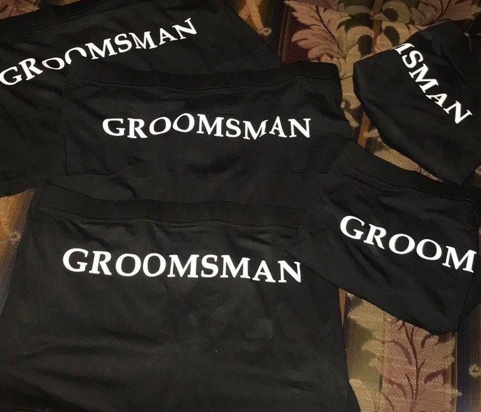 Personalized Groom's / Groomsmen / Groom's Party Boxer Briefs