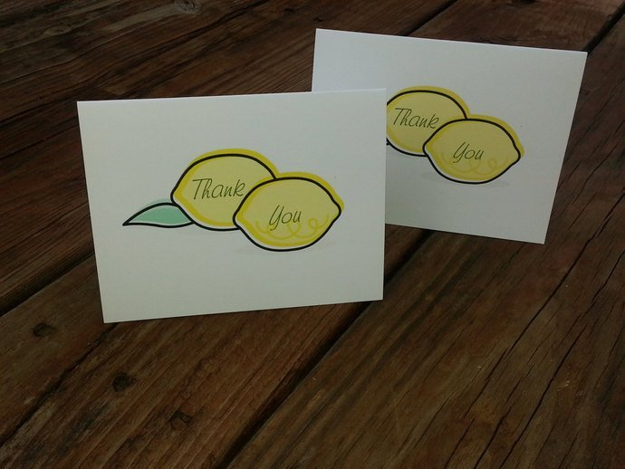 Happy Little Lemons Thank you Cards / Party Invite / Note Cards