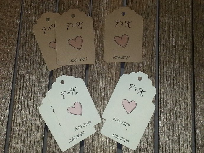 Personalized Favor Tags / Wedding/ Party / Birthday / Special