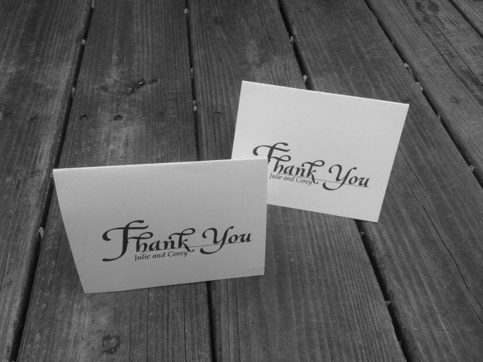 Simply in Love Thank you Cards