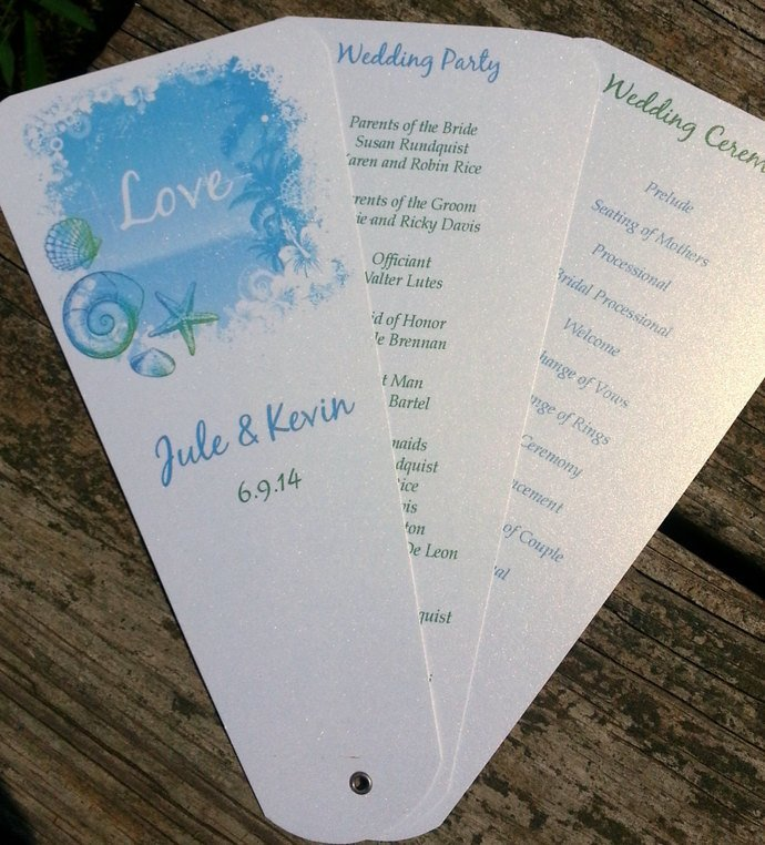 Pretty Petal Programs / Personalized Set of 20 - Wedding / Special Event
